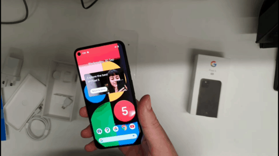 First Google Pixel 5 unboxing video
