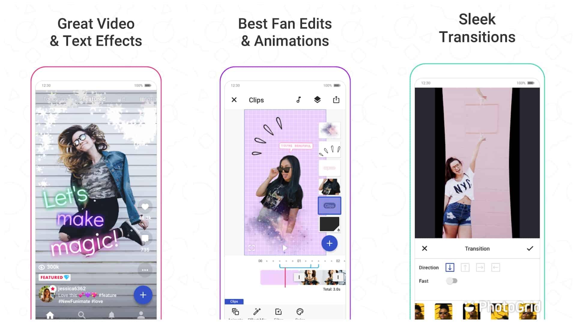Funimate app image grid