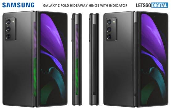 Galaxy z fold 3 light indicator patent