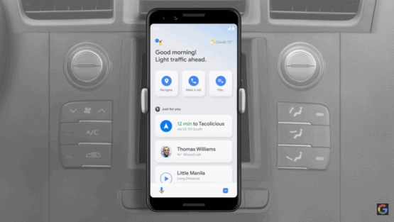 Google Assistant Driving Mode 3