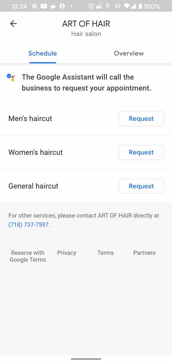 Google Duplex hair Appointment Booking 1