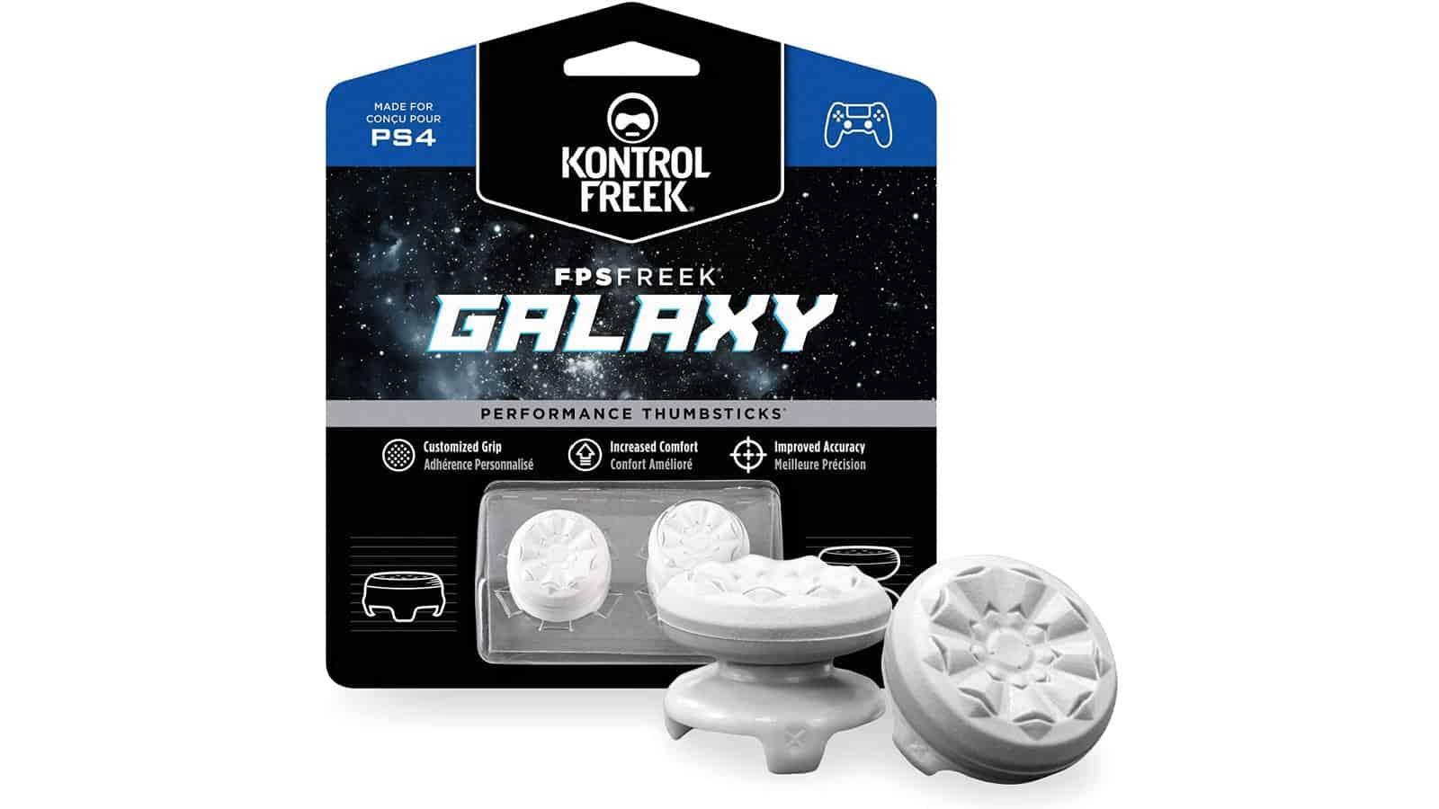 KontrolFreek Galaxy White Thumbstick Grips