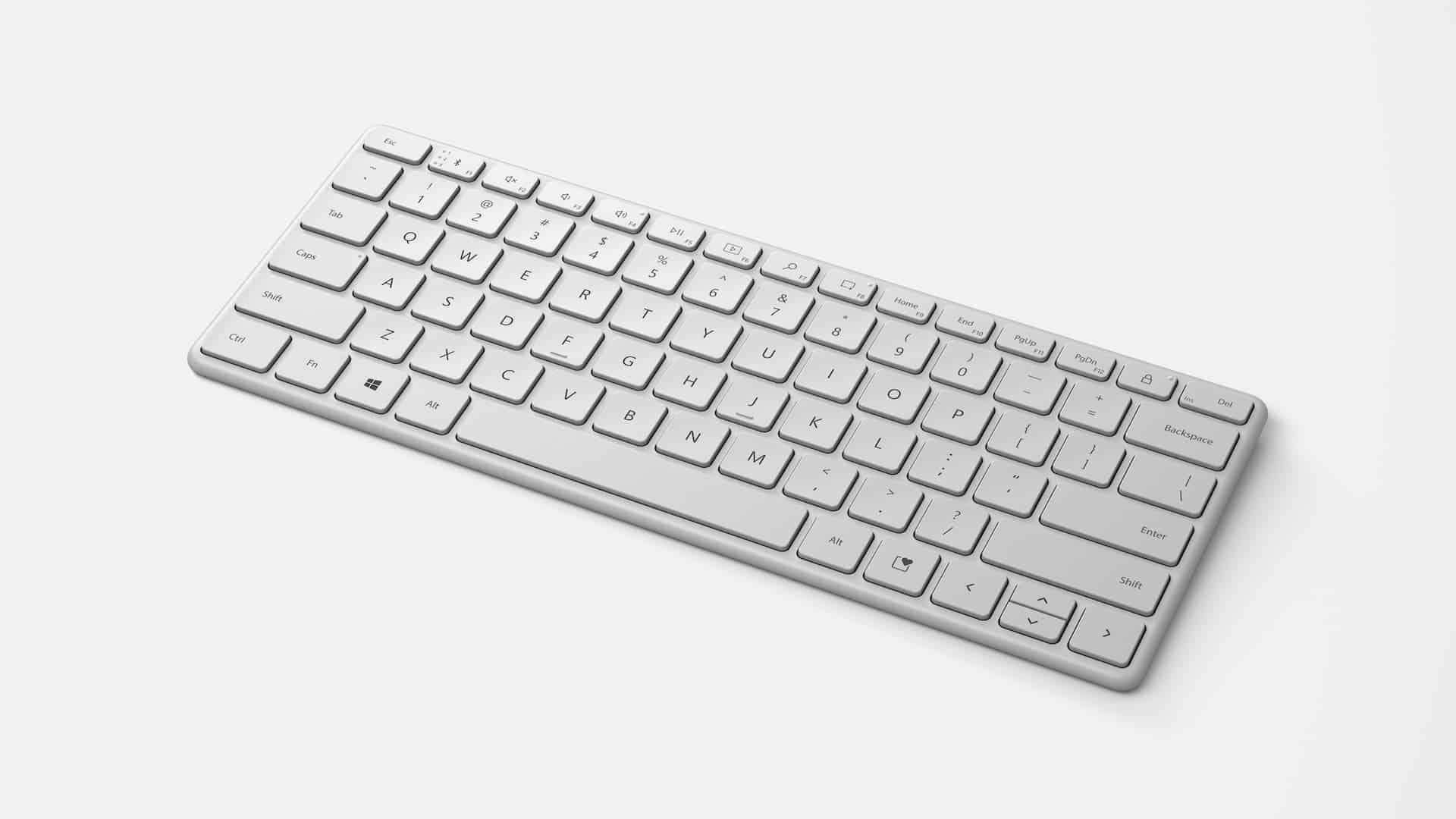 Microsoft Surface Designer Compact Keyboard white