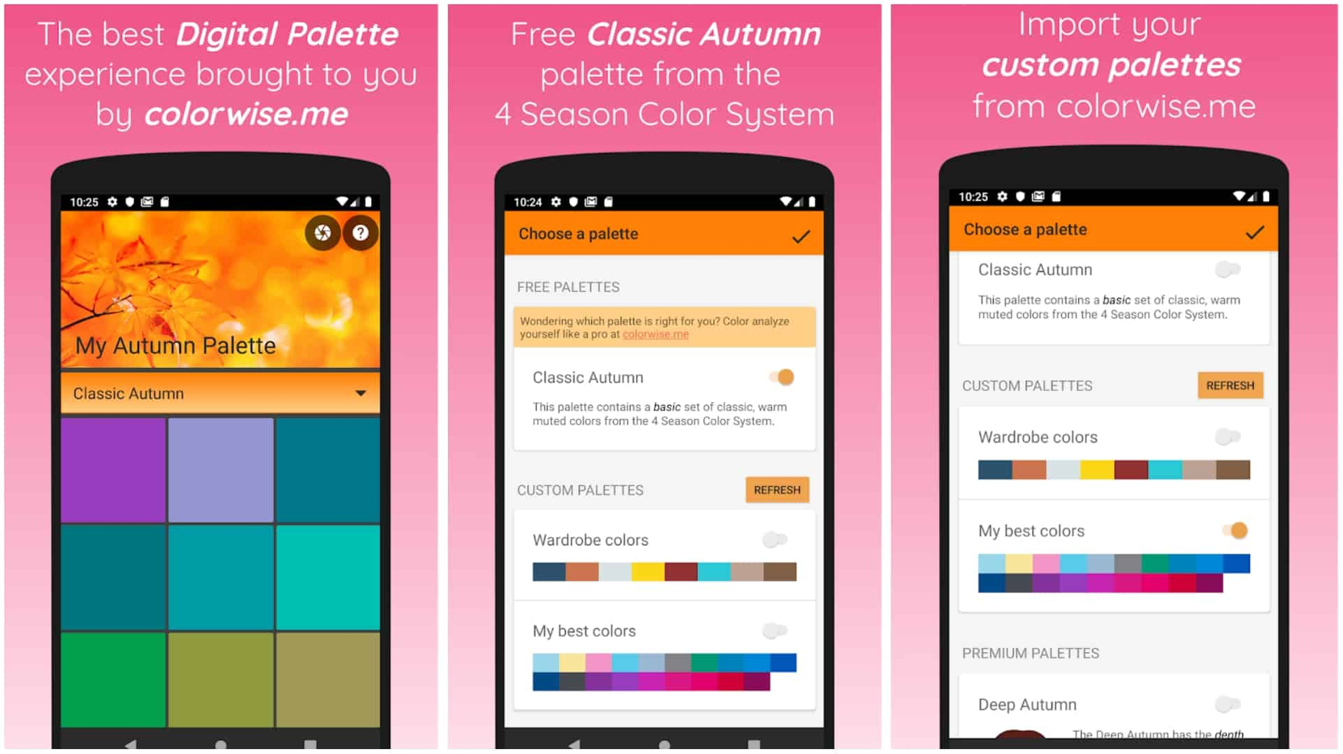 My Autumn Palette app grid image