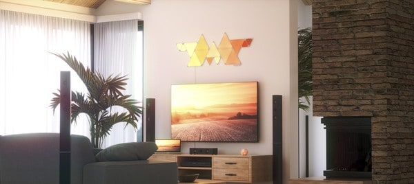 Nanoleaf triangle smart lights 3