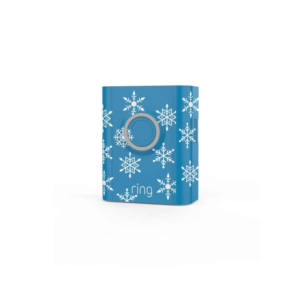 Ring Interchangeable Faceplate Snowflakes