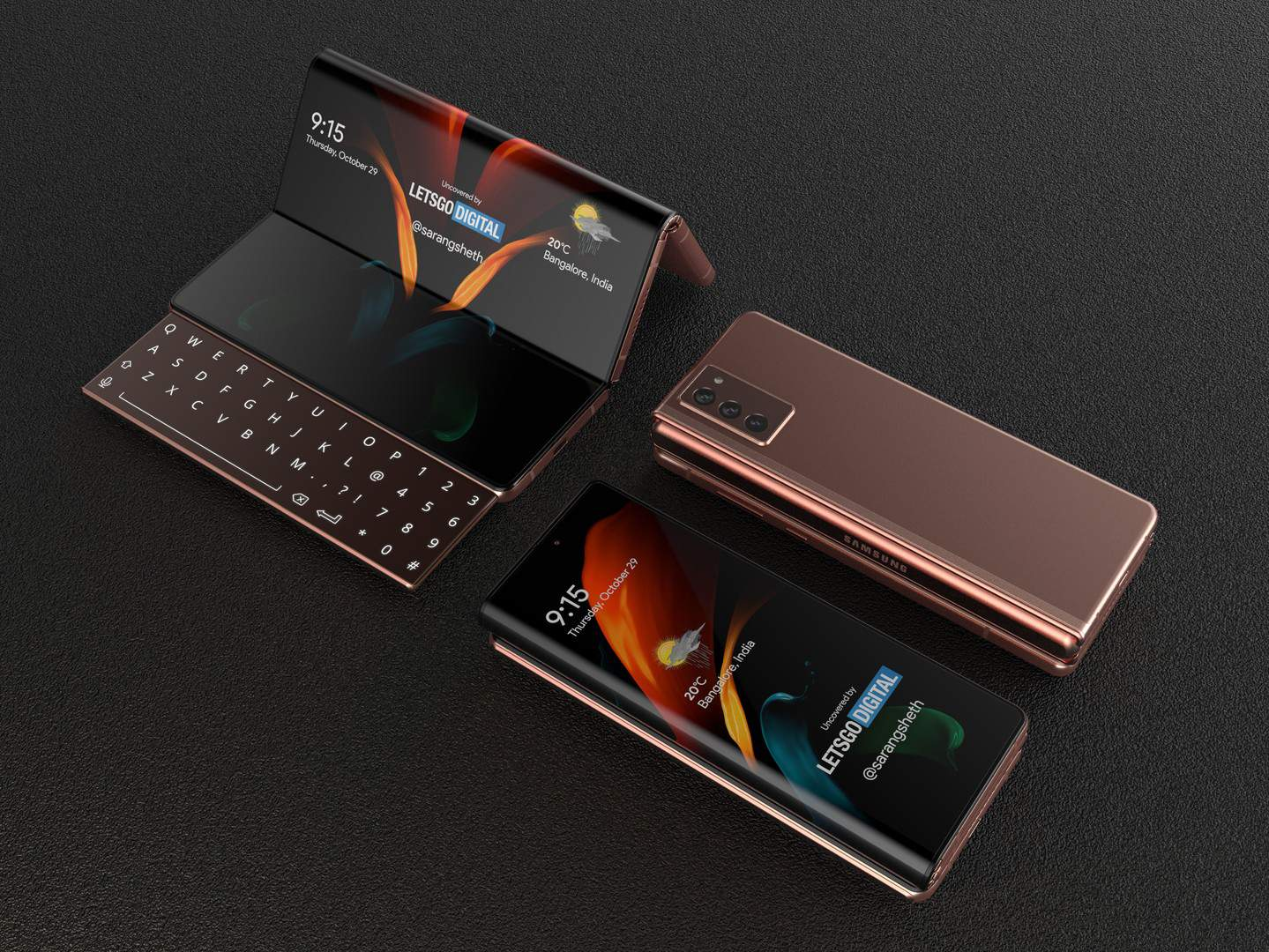 Samsung Galaxy Z Fold with sliding keyboard 2