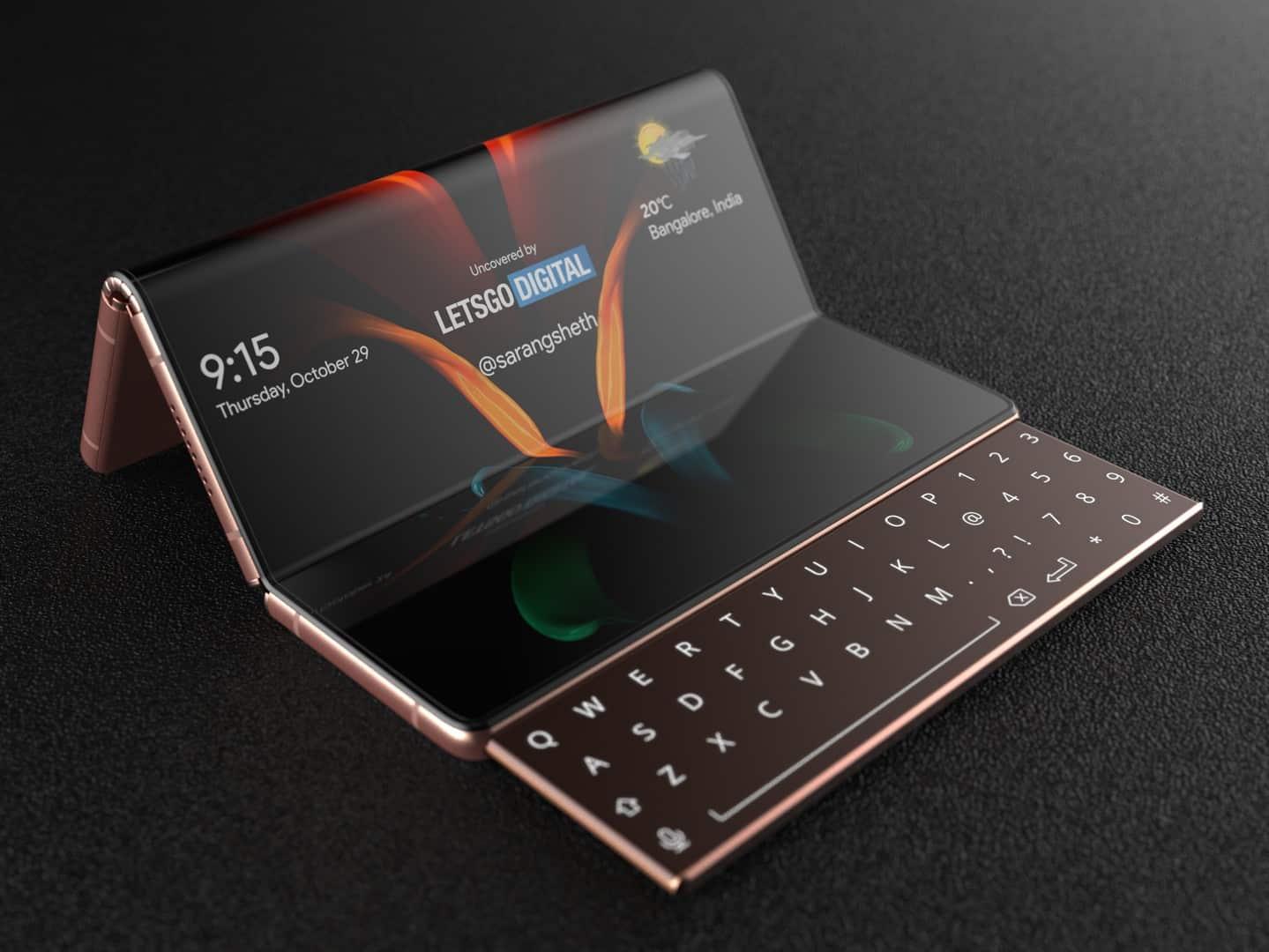 Samsung Galaxy Z Fold with sliding keyboard 4