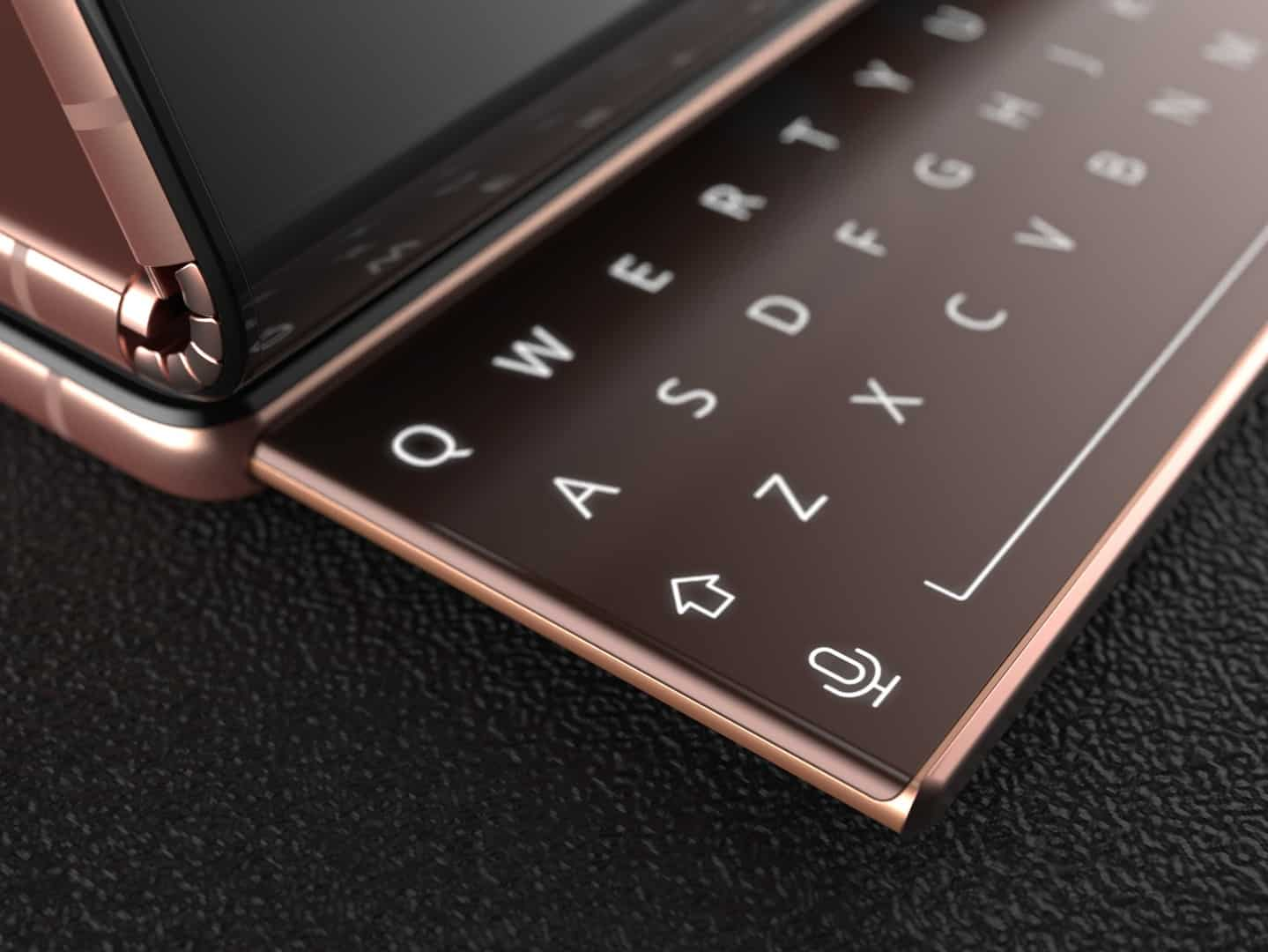 Samsung Galaxy Z Fold with sliding keyboard 5