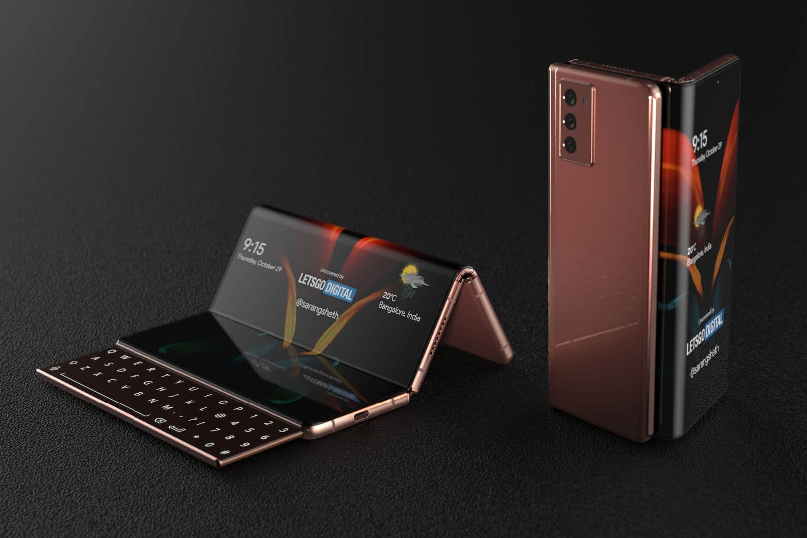 Samsung Galaxy Z Fold with sliding keyboard 9