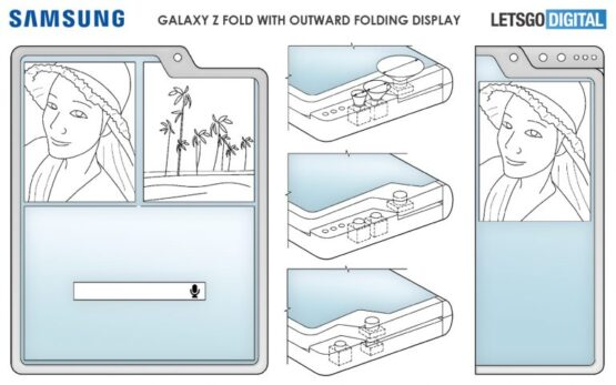 Samsung Outward Folding Smartphone