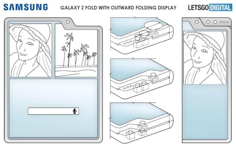 Samsung Outward Folding Smartphone