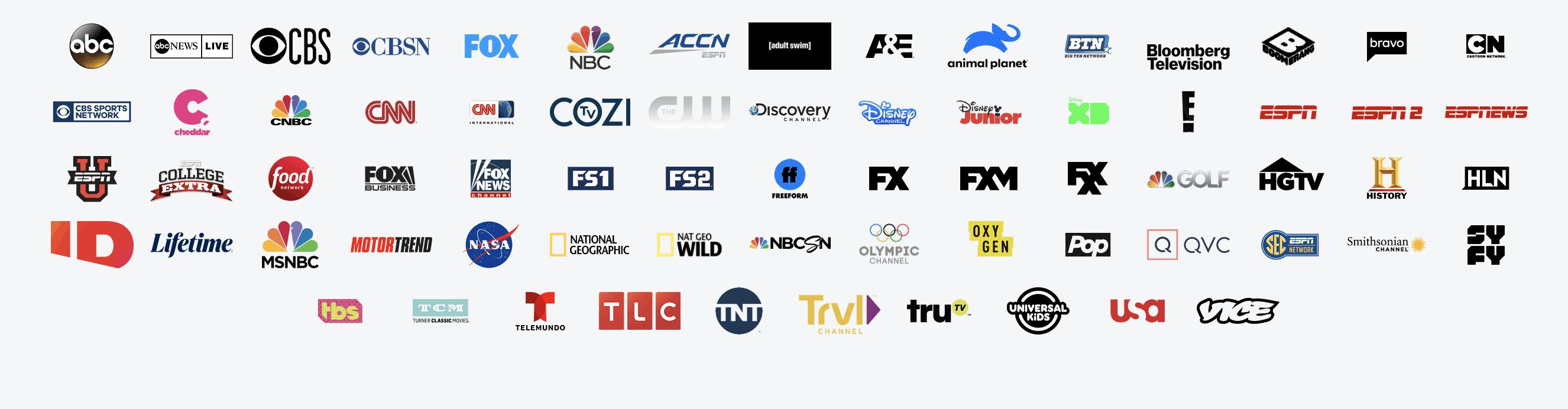 hulu + live tv channels