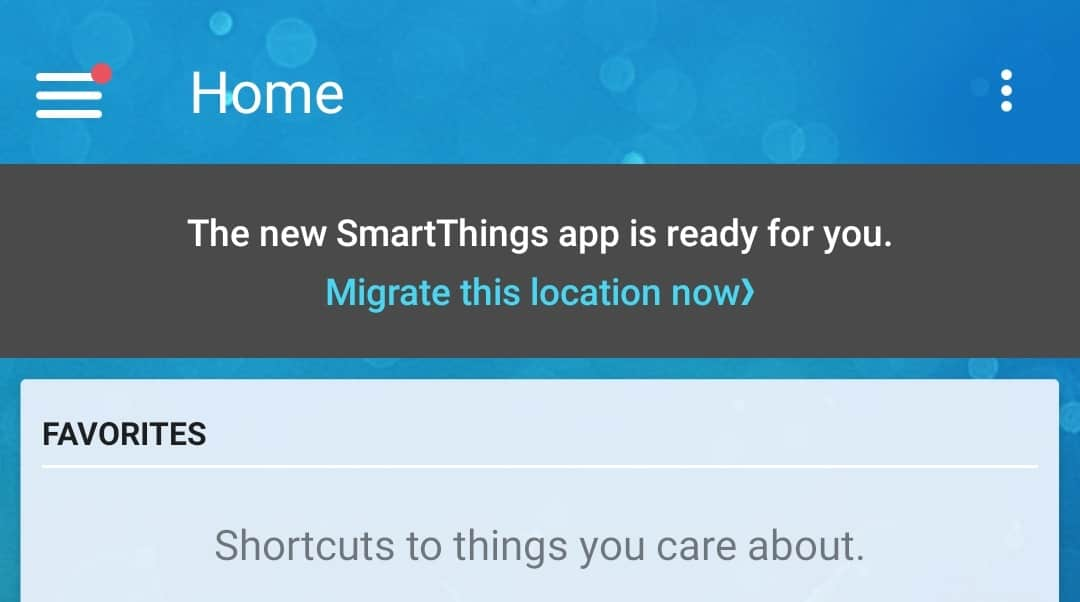 SmartThings Classic migrate 1