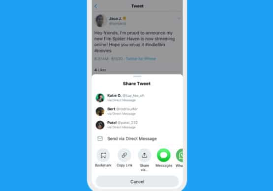 Twitter new share menu iOS featured