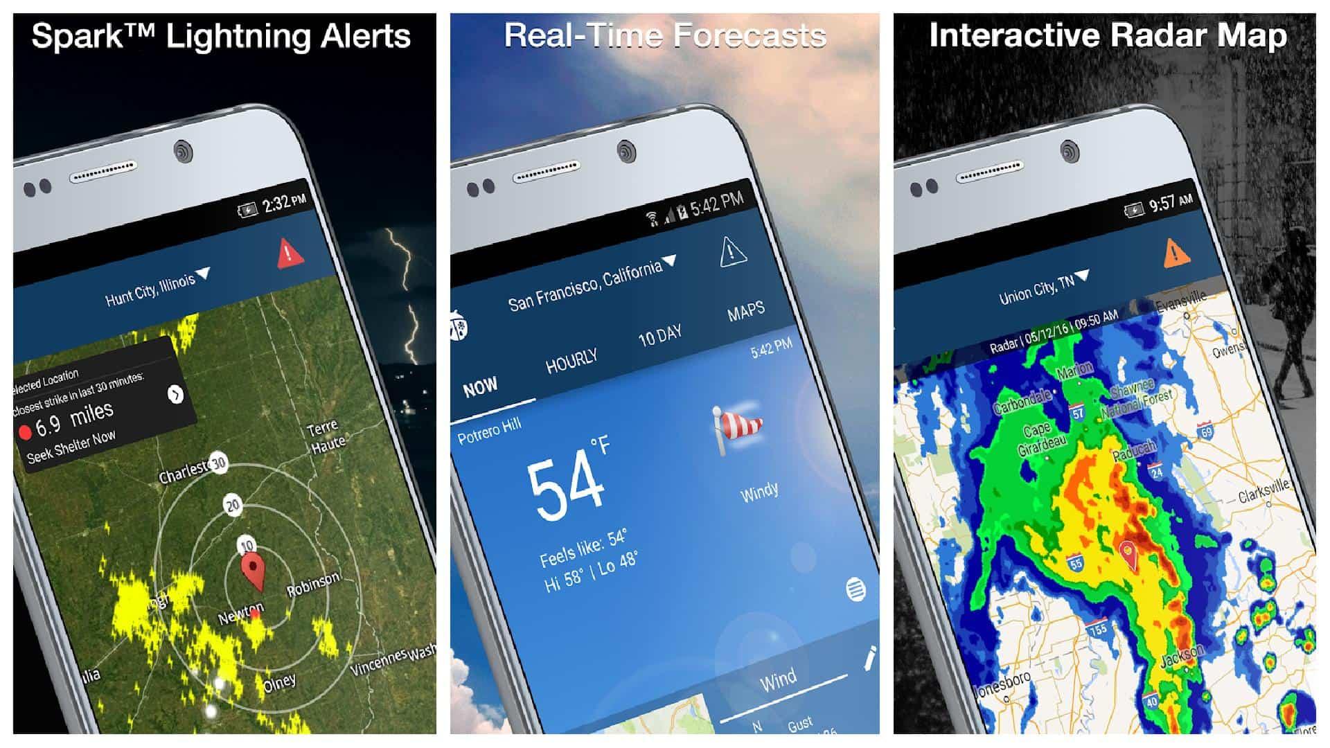 WeatherBug app grid image