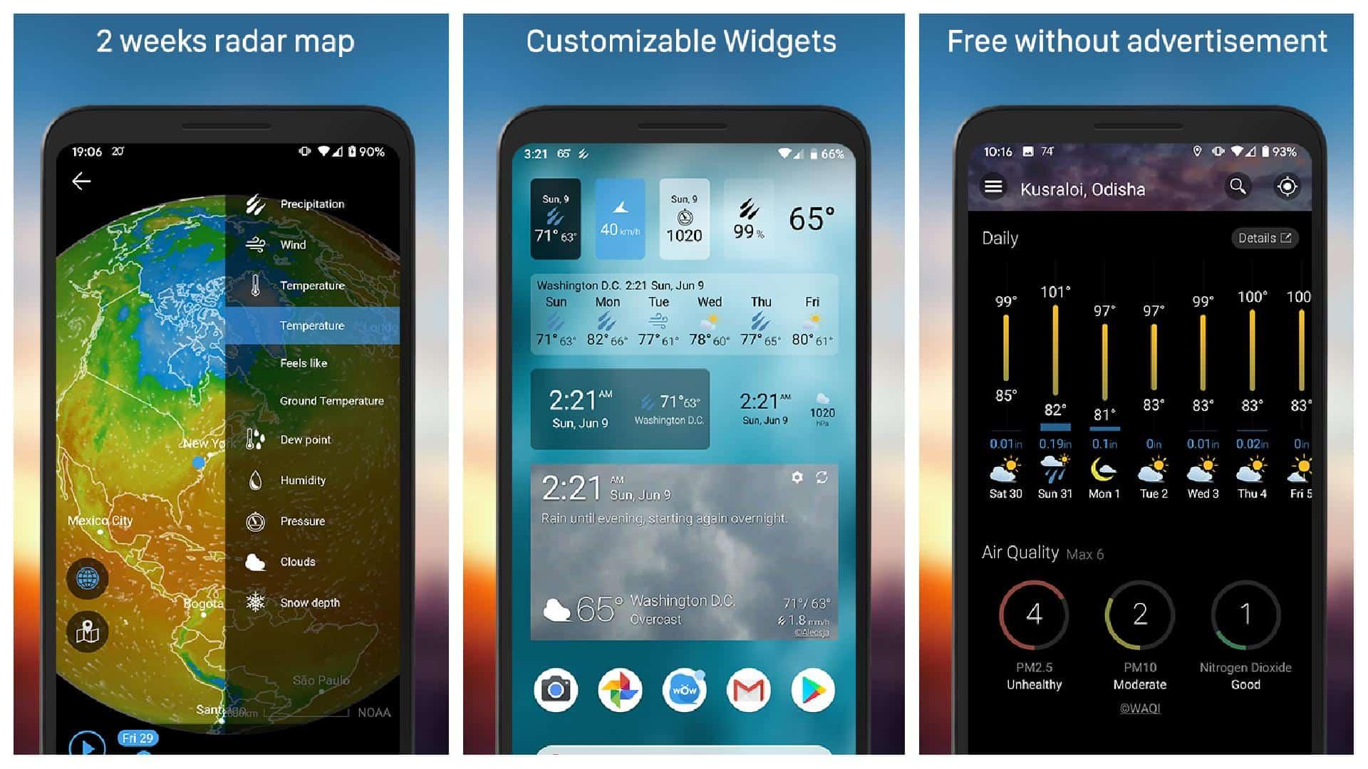 Weawow app grid image