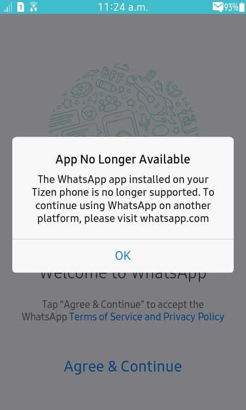 WhatsApp Tizen
