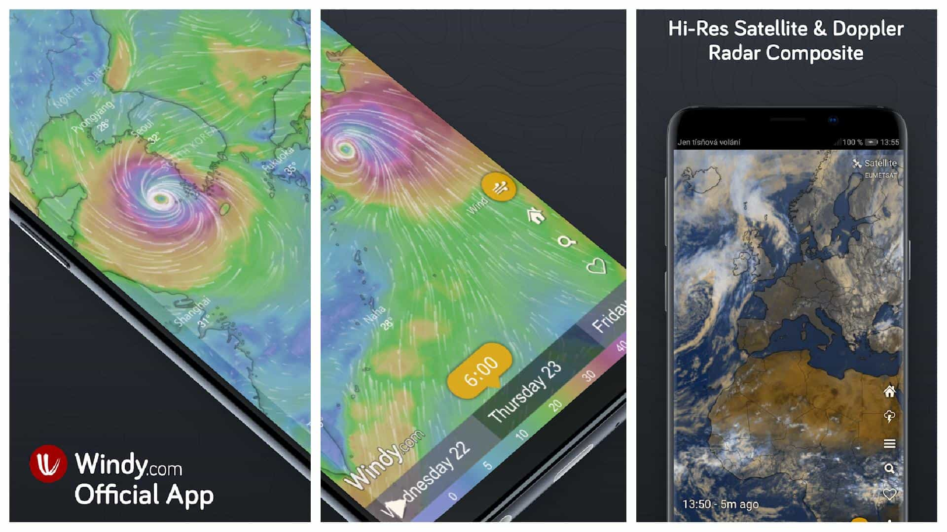 Windy com app grid image