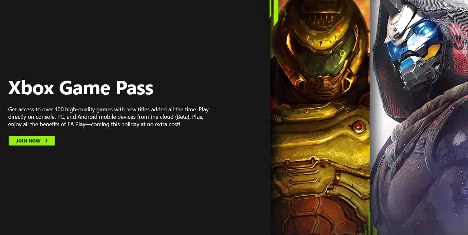 Xbox Game Pass Signup