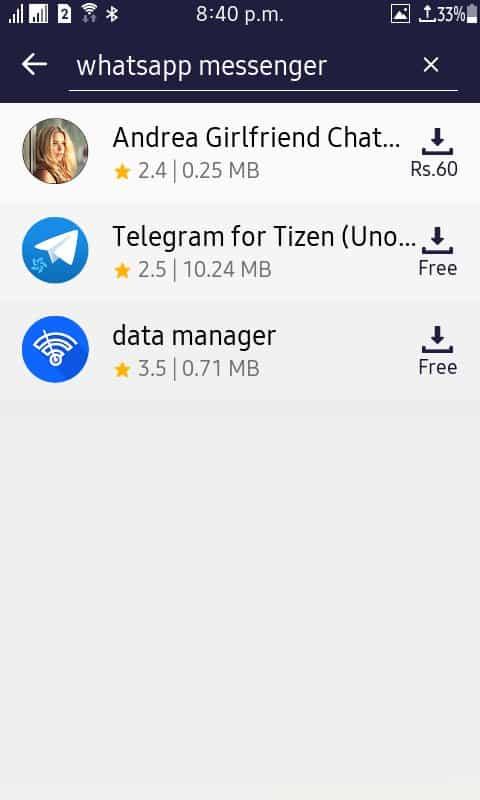facebook app removed tizen store