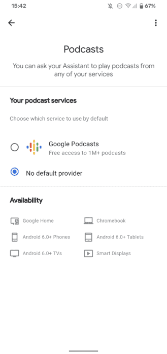 google assistant settings podcasts 2 329x695 1