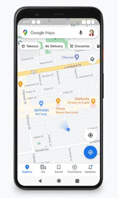 google maps busyness feature update