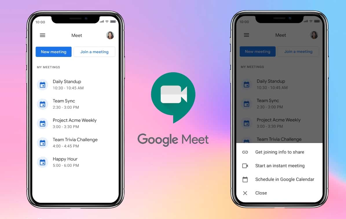 google meet android app update