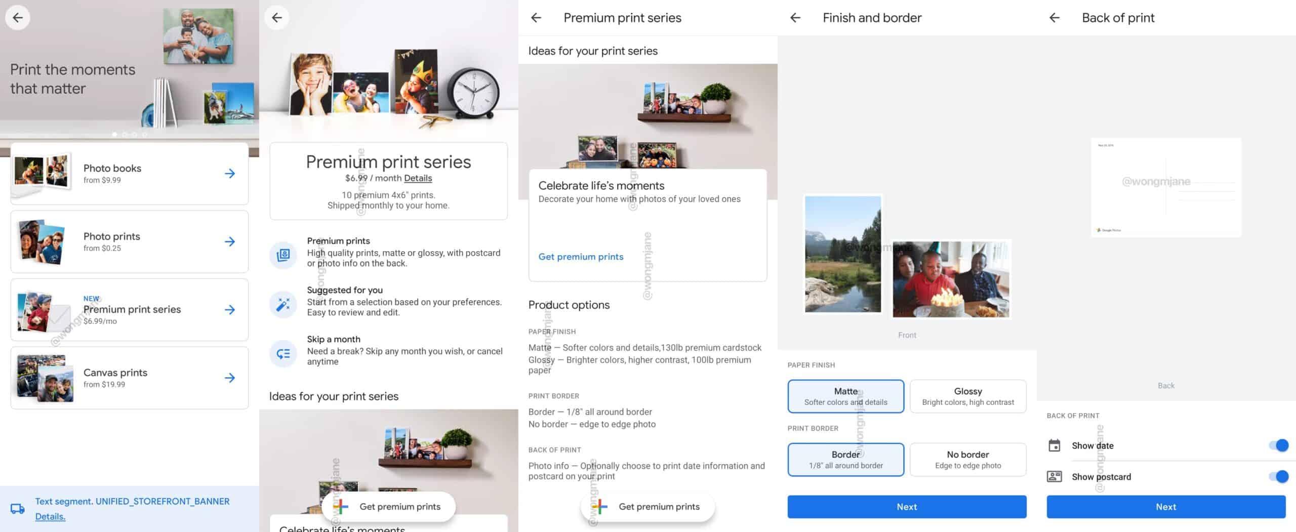 google photos premium print series