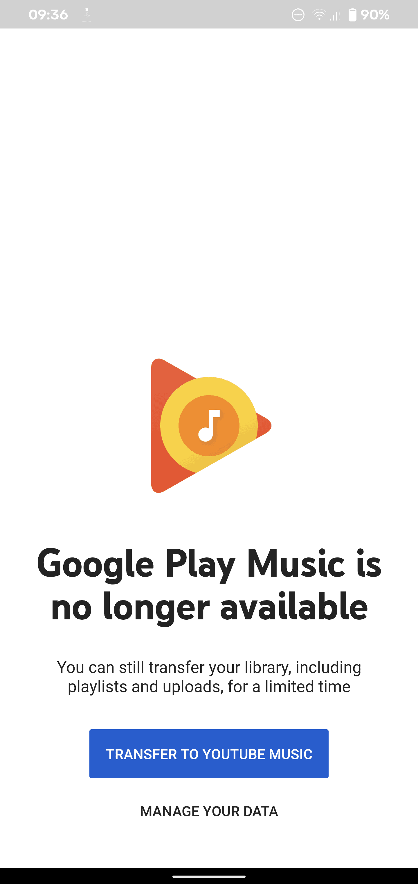 google play music shut down