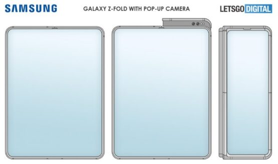 samsung galaxy z fold pop up camera patent 1