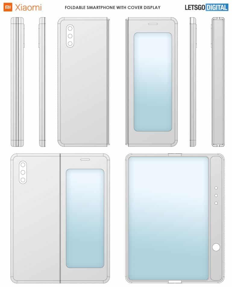 xiaomi foldable smartphone patent 2