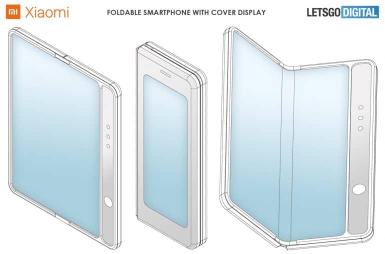 xiaomi foldable smartphone patent