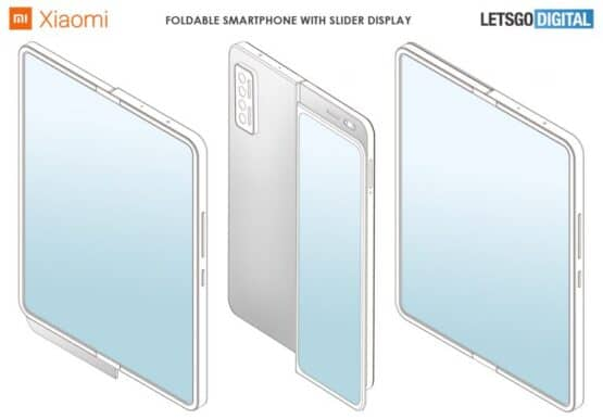 xiaomi foldable smartphone sliding display