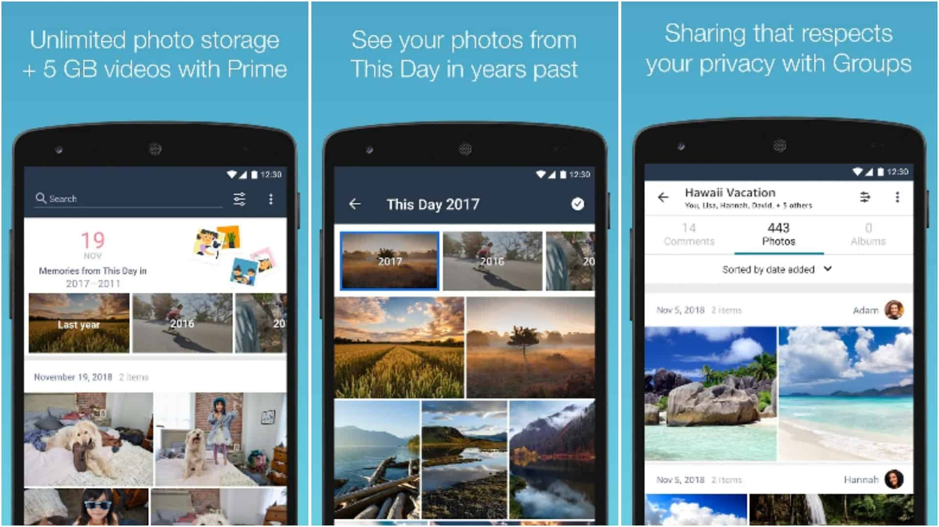 Amazon Photos app grid image