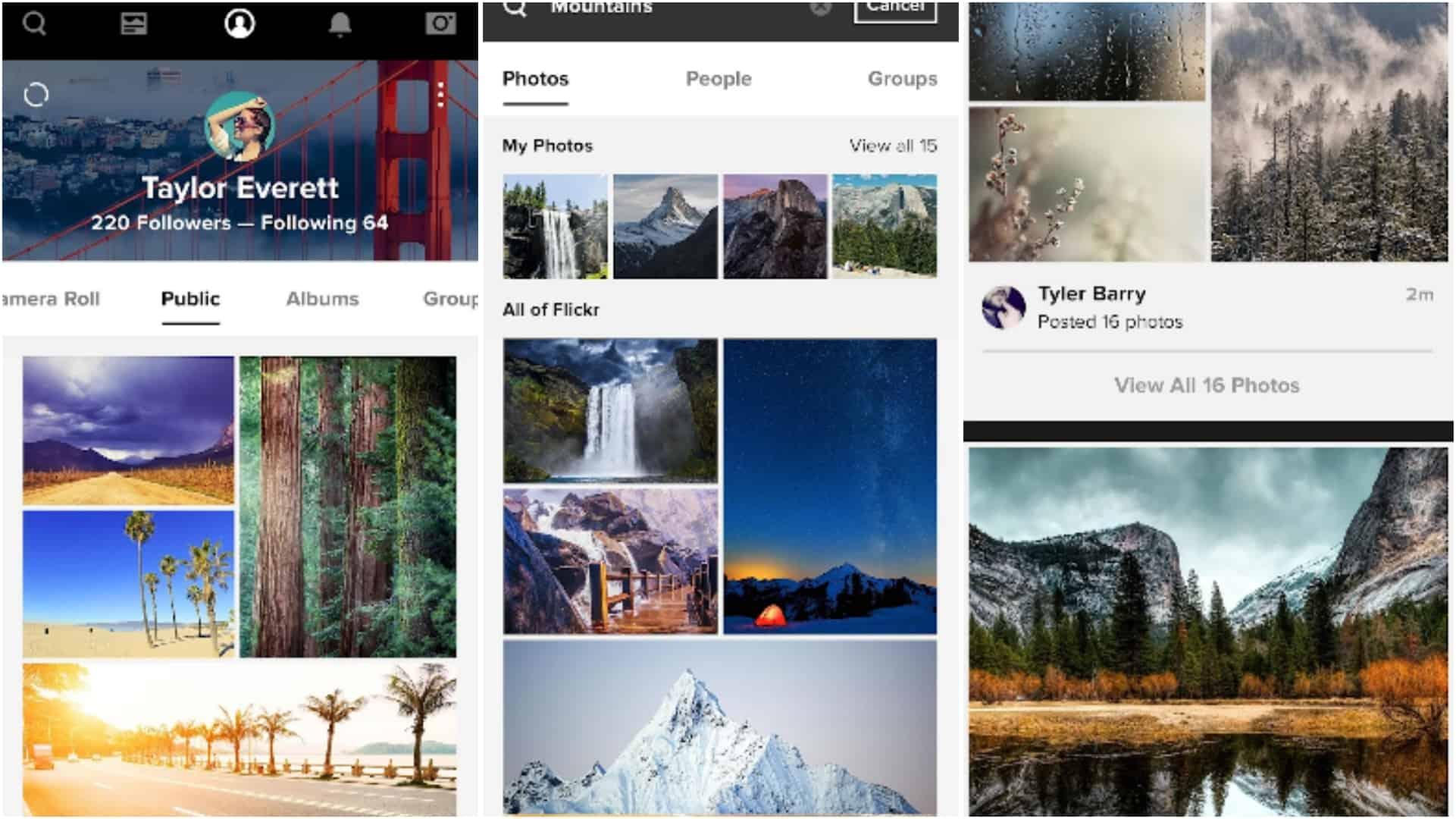 Flickr app grid image