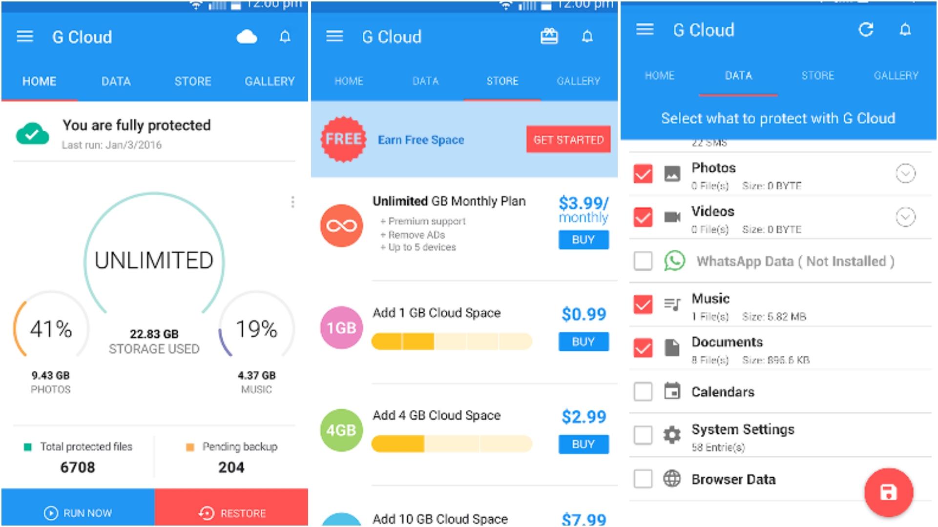 G Cloud Backup app grid image