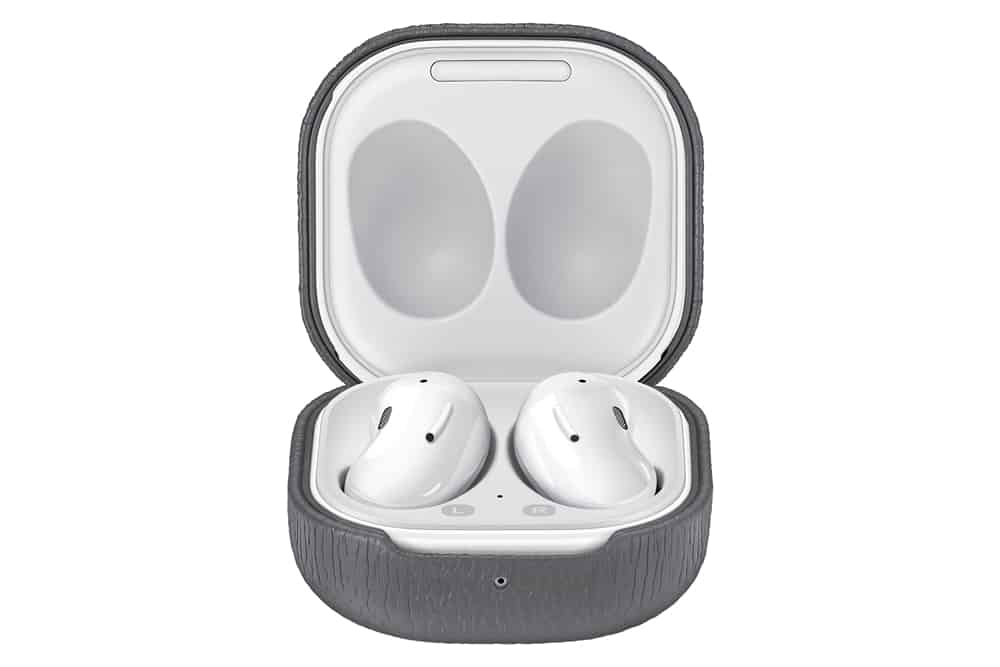 Galaxy Buds Live Leather Cover Gray