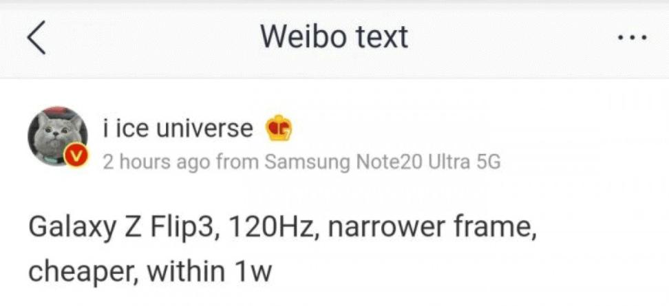 Galaxy Z Flip 2 3 120Hz