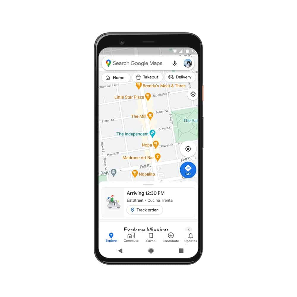 Live Delivery Status google maps