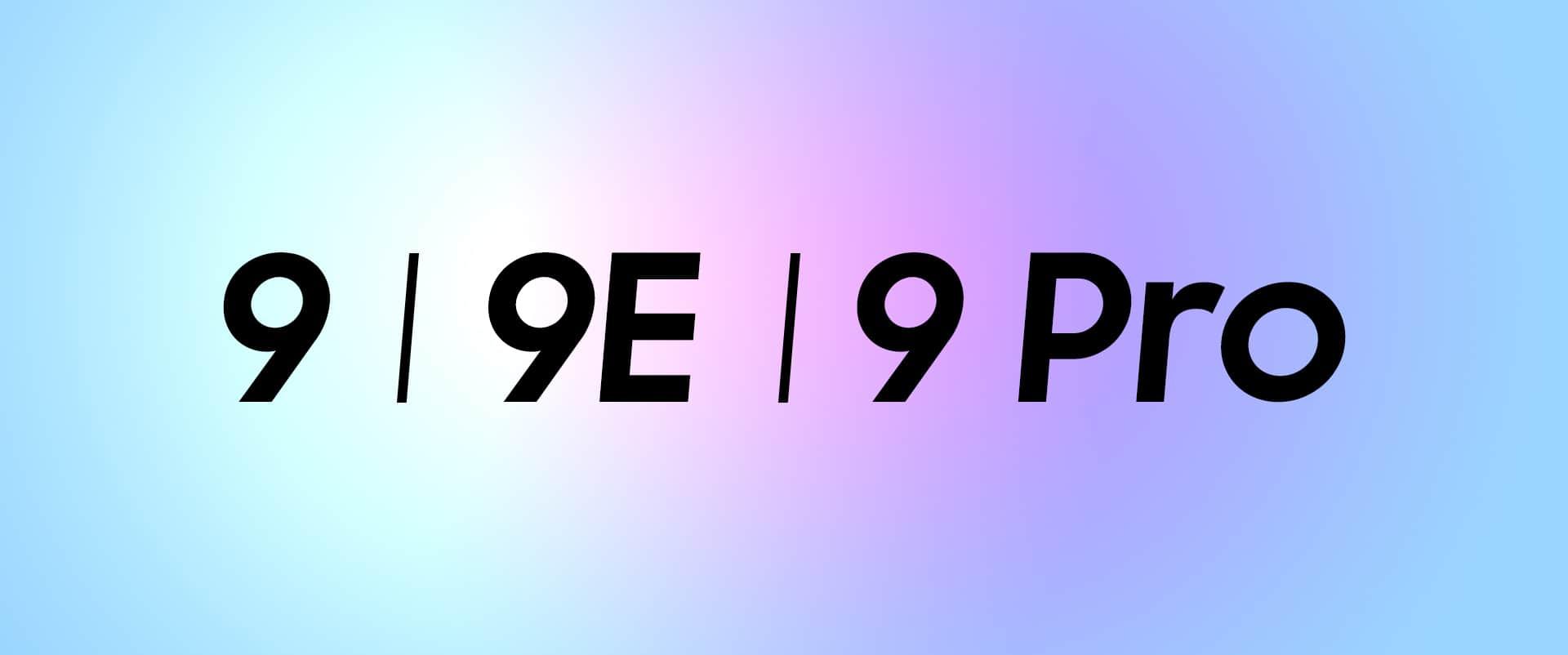 OnePlus 9 three smartphones names