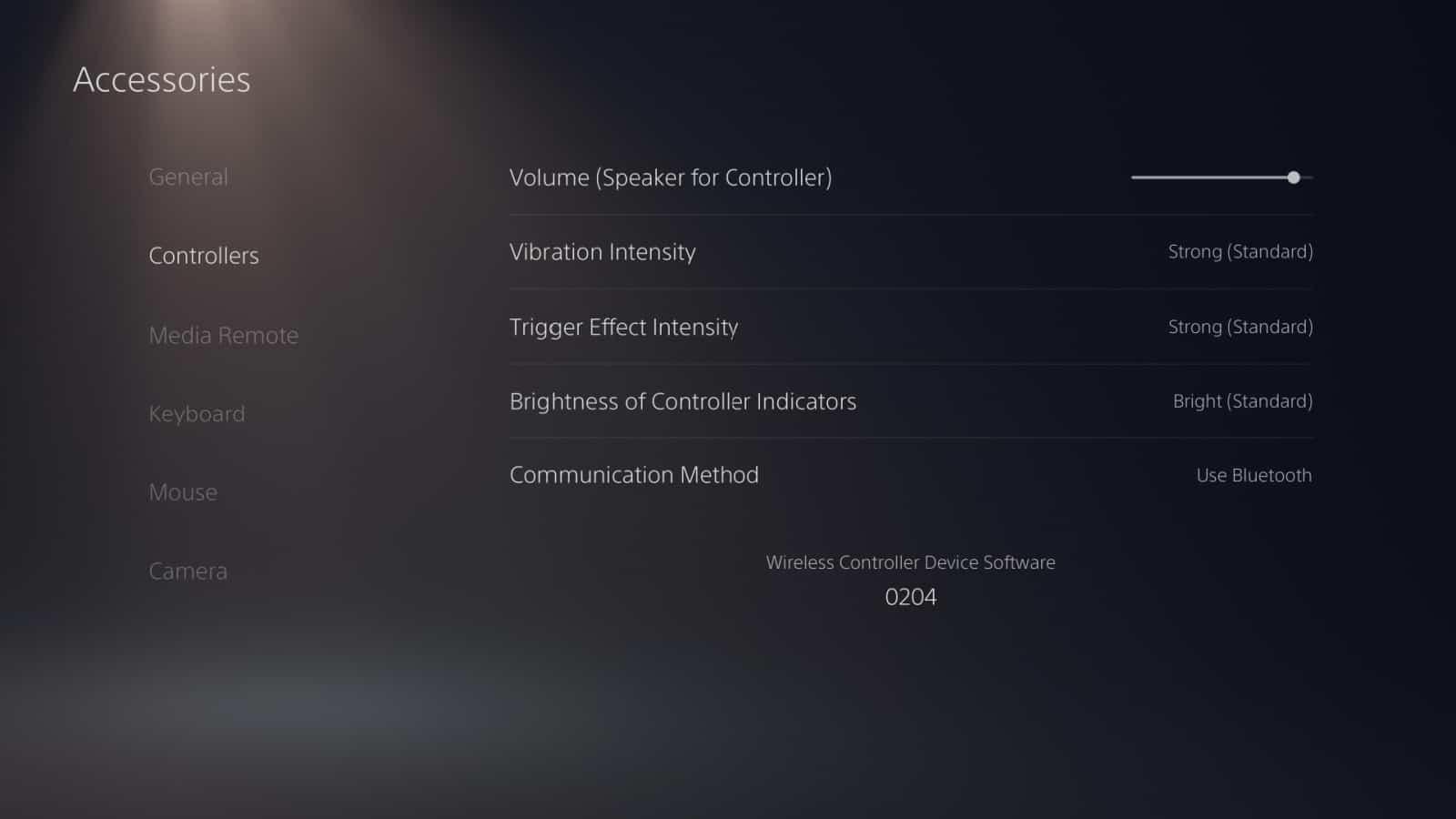 PS5 DualSense Controller Settings