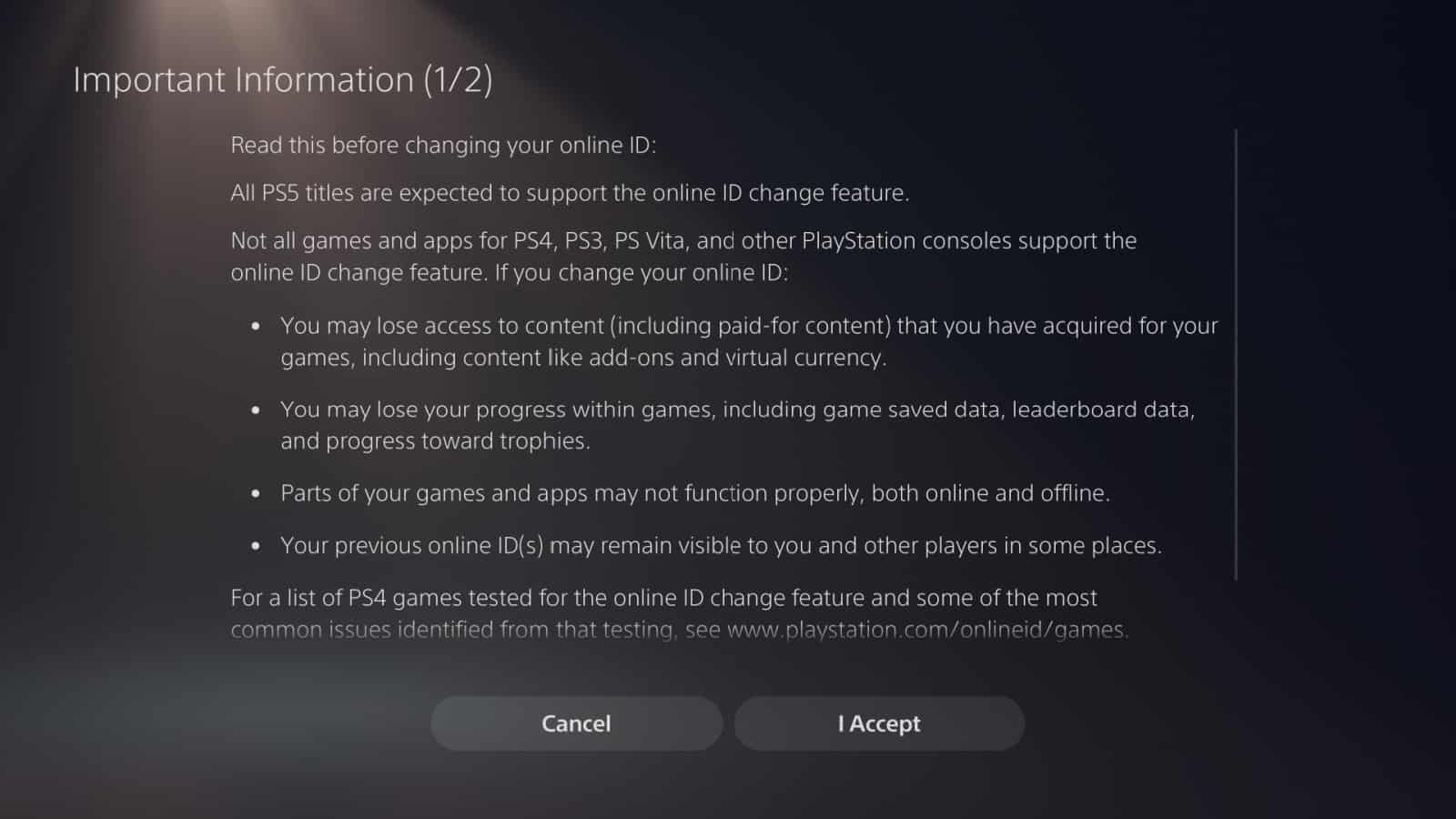 PS5 Online ID 2