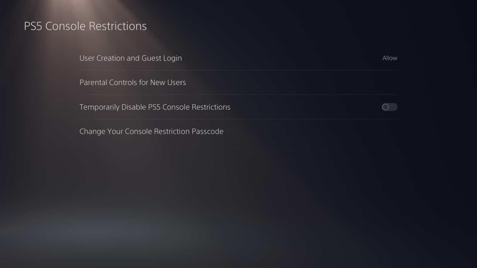 PS5 Parental Controls 1
