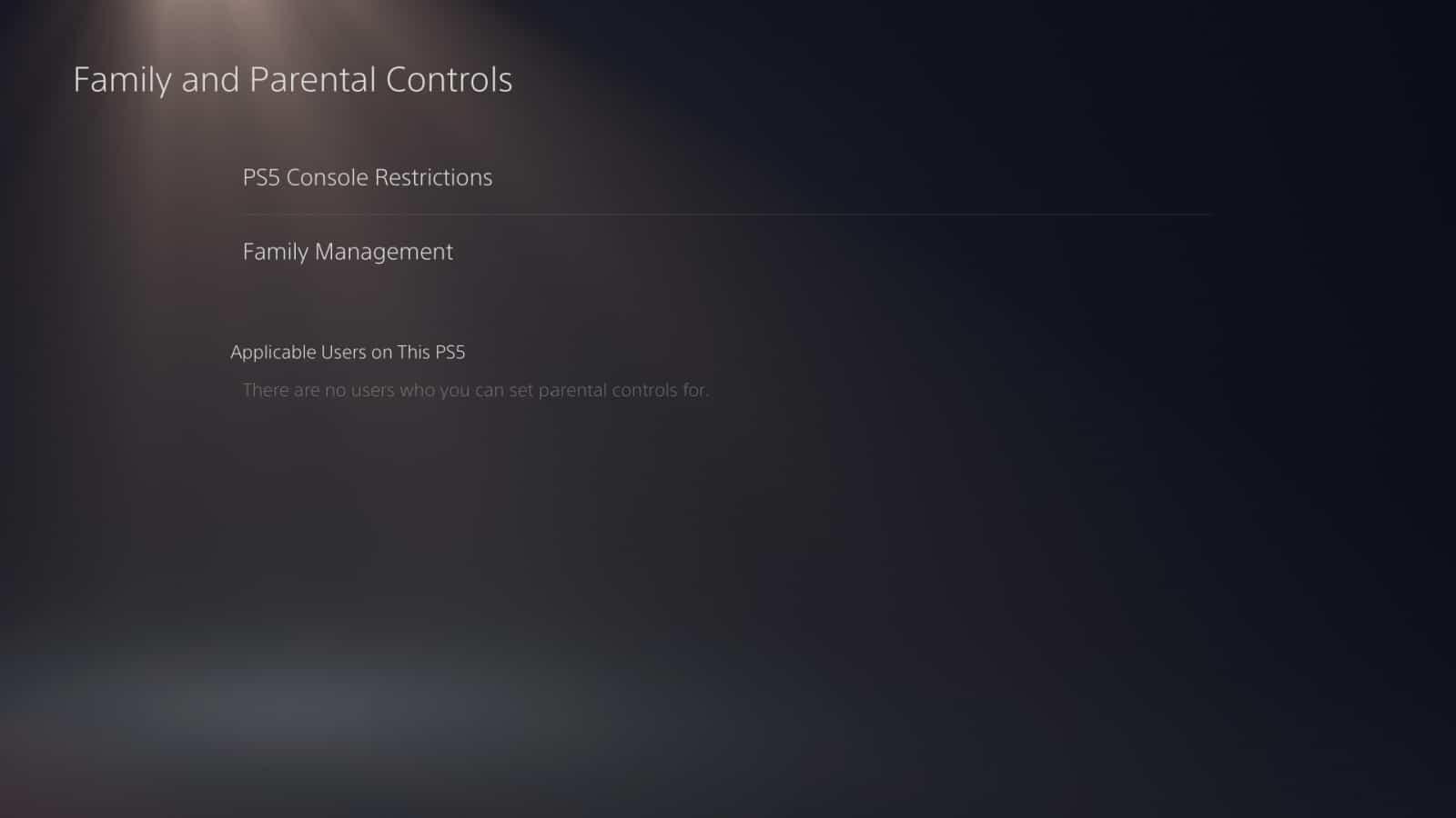 PS5 Parental Controls 4