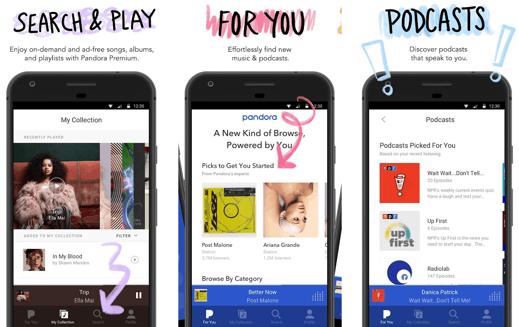 Pandora best music streaming apps android