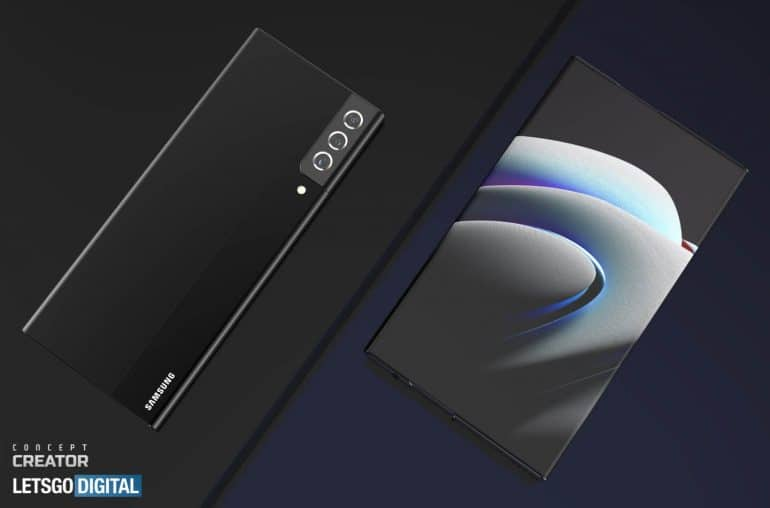 Samsung Galaxy Note rollable smartphone concept 1