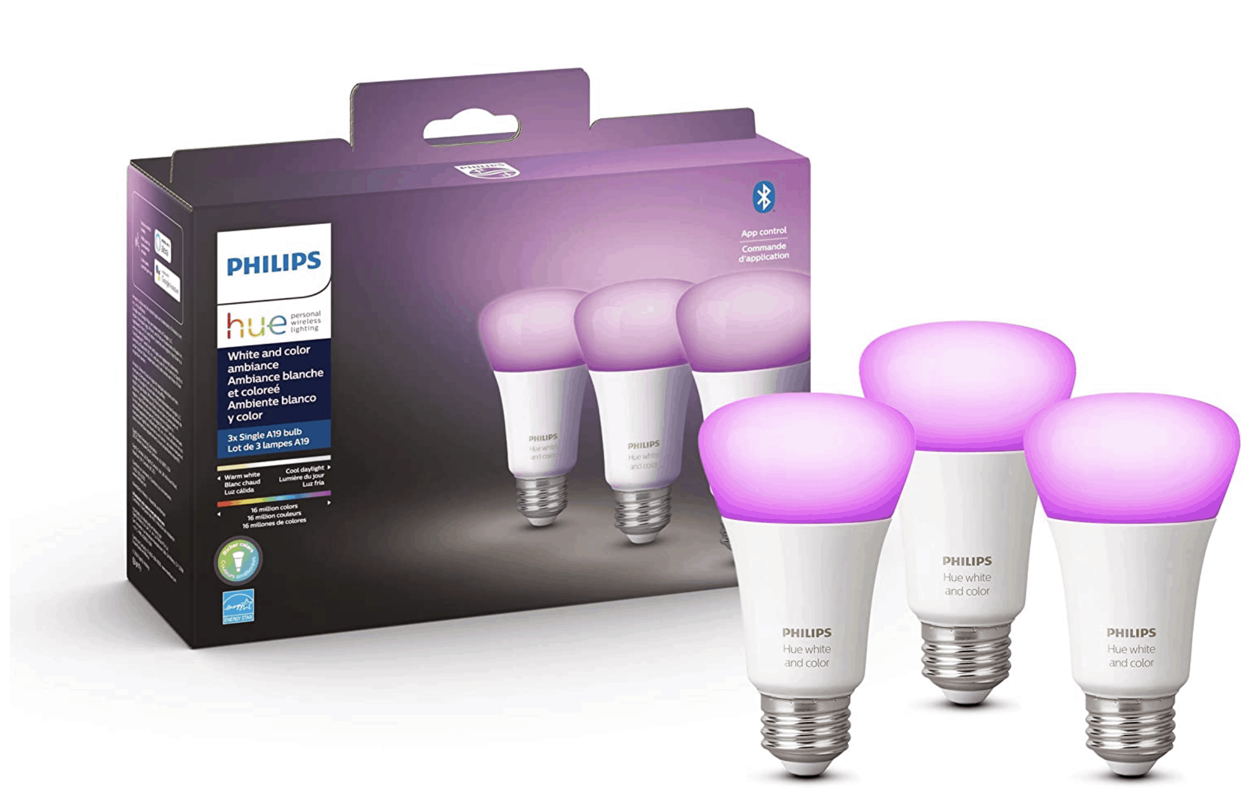 Philips Hue White Color Ambiance 3 Pack Bulbs For 99 Early Black Friday Deals