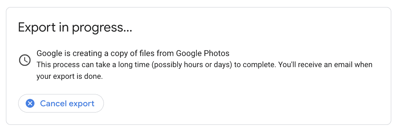 leave google photos