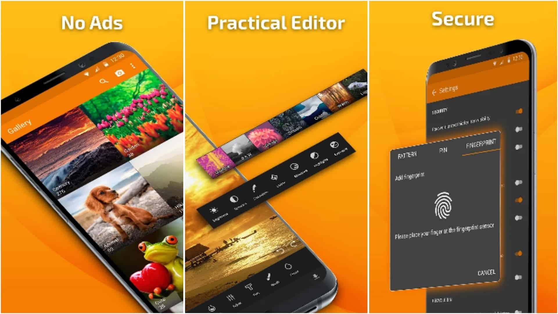 Simple Gallery app grid image